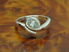 925 Sterling Argento Anello con guarnizione in vetro/in puro argento/3,5g/RG 56