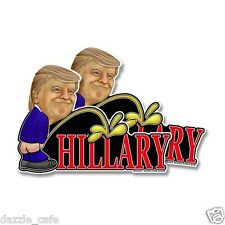 "2x Trump Piss On Hillary Anti Clinton Bumper Window Decal Sticker Trump 5""x7"""
