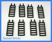Lego - 8x Black Ladder Bar 7x3 with Double Clips - 6020 - Brand New Pieces