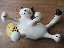 M&S RESIN CAT SHAPE KEY/TEA TOWEL/KITCHEN HOOK. NEW WITH TAGS.