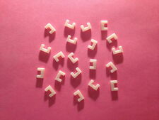 Aurora Tjet HO Scale Slot Car Parts - 20 White Roadway Locks (New)