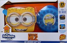DESPICABLE ME View-Master 3D Viewer SET View Master GRU Minion 3 Reels Case NEW