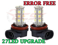 2x H11 27 LED XENON WHITE FOG LIGHT ERROR FREE SMD CANBUS FOGLIGHT BULBS UPGRADE