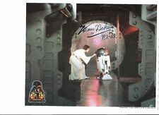 Star Wars Kenny Baker R2-D2 Autographed 8x10 Color Photo With Carrie Fisher