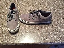 Men's Vans Lace-Up Gray Suede/Leather Skateboard Shoes Size 10 Excellent Conditi