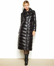 $350 New Calvin Klein Black Asymmetrical Maxi Long Down Puffer Winter Coat L