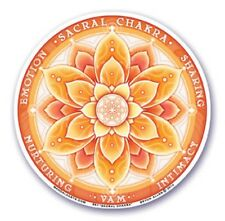 Mandala Arts Window Sticker: Sacral Chakra