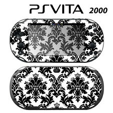 Vinyl Decal Skin Sticker for Sony PS Vita Slim 2000 Black & White Damask