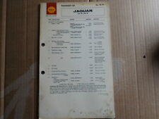 Jaguar s type 3.4, 3.8, shell graissage tableau service guide X76
