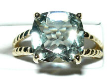 10kt Yellow Gold Ladies Green Amethyst New Size 7