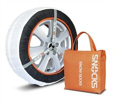 "SNOCKS Winter Tyre Ice & Snow Socks Fabric Chains 15""- 22"" Wheels 46L BRAND NEW"