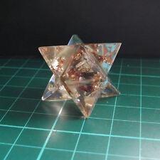 Enchères orgonite crystal chips merkaba star véhicule de lumière de guérison énergie
