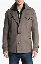 HUGO BOSS Orange Ofanta Gray Wool Coat Jacket Size 44 R