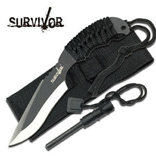 """SURVIVOR 7"""" Fixed Blade Tactical Knife with Sheath Hunting Bowie Survival NEW"""