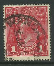 AUSTRALIA KGV KING GEORGE V One Penny Red 1d Single Watermark Used (No 13)
