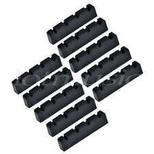 Bass Nut for 4 String Bass Guitar Parts Slotted String Nut Black 42.5mm 10 Pcs