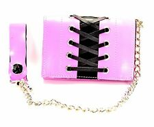 Pink Corset Girls Chain Wallet Punk Goth Rockabilly Sexy Fetish Style