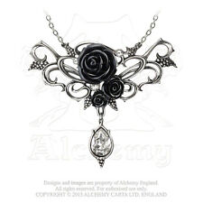 Alchemy - Bacchanal Rose - Pewter and Crystal Necklace