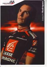 CYCLISME carte  cycliste JOAQUIM RODRIGUEZ OLIVIER équipe CAISSE D'EPARGNE 2008