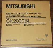 Mitsubishi ck2000bl papel y farbrolle (S/W) para cp-2000 y cp-2500e serie