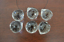 6 PCS ASFOUR CLEAR SQUARE FACETED CRYSTAL BALL PRISMS FENG SHUI 30MM #T-2780