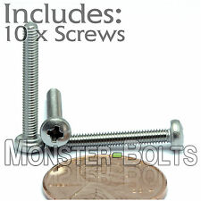 M2.5 x 20mm - Qty 10 - Stainless Steel Phillips Pan Head Machine Screws DIN 7985
