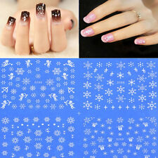 Water Transfer Nail Art Stickers Xmas Snow Flake Angle Gift Christmas Decals