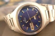 Beautiful Collectible Blue Dial 38mm SS Seiko 5  Actus 7019 5010 Day/Date Auto