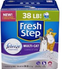Fresh Step Multi-Cat With Febreze Freshness, Clumping Cat Litter, Scented, 38