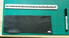 PIECE BLACK LEATHER 27 cm X 10 cm SCRAP/REMNANTS/OFFCUT/REPAIR PATCH 613