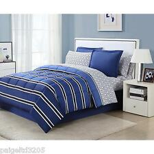 Essential Home 6-piece TWIN  Complete Bed Set - Rugby Stripe