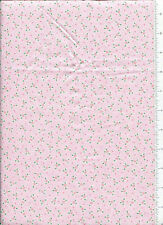 2001 mary engelbreit ~ TINY PINK ROSES ~ fabric on pink