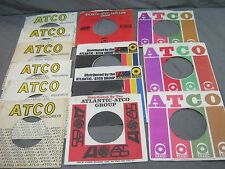 13 ATCO LABEL COMPANY SLEEVES FOR 45 RPM RECORDS - SOUL FUNK R&B PSYCH ROCK