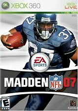 NEW XBOX 360 Madden NFL 2007 Video Game Multiplayer Online Footballl Tournament