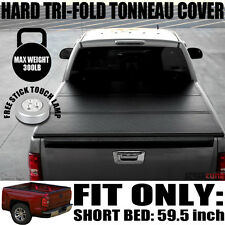 """Tri-Fold Solid Hard Tonneau Cover Jr Fits 05+ Frontier Crew 5'/60"""" Short Bed"""