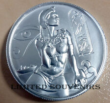 Cleopatra Ultra High Relief 2 oz .999 Silver BU Coin Round Egyptian Gods Series