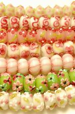 70 Handmade Glass Lampwork Spring Beads Mixed