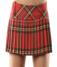 LADIES WOMEN GIRL SCOTTISH TARTAN CHECK PLEATED MINI SHORT KILT SKIRT 6 COLORS