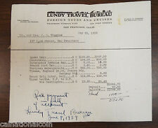Lundy Travel Bureau Forign Tours and Cruises Price Total for European Tour 1939