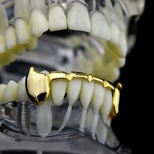Vampire Fangs Half Grillz 14k Gold Plated Slim Bottom Lower Fang New Teeth Grill