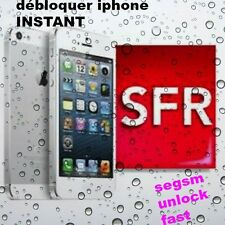 SFR france iphone unlock 3,4,4s,5,5s,5c,6,6+ INSTANT