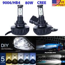 80W 9006 HB4 CREE LED Headlight Kit Car Head Fog Light Fit Jeep GMC Chevrolet