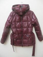 NWT - Burberry Brit Bramcotesl Down Puffer Coat Size S Mahogany Red MSRP 795