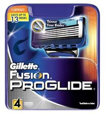 GILLETTE FUSION PROGLIDE RAZOR BLADES 4 - 100% GENUINE UK STOCK