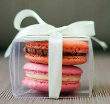 50 x 8cm Clear Plastic Cube Cup Cake Gift Corporate Product Macaron Favor Box