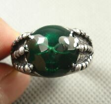 Nice Green enamel Skull Agrippa the soul of the Rings Size 11.5 COOL Gift AH10