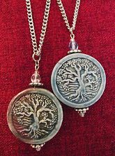 Tree of Life Celtic Pagan Wicca Ceramic Stainless Steel Chain Pendant Necklace