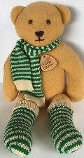 Vtg '82 Elegante Dakin Teddy Bear Plush Yellow Wool/Poly Socks Scarf Tags USA