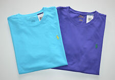 New Men's Polo Ralph Lauren Lot of 2 T-shirt, Blue, Purple, XXL, 2XL