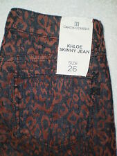 BB Dakota Collective Khloe Skinny Stretch Womens Leopard Jeans Size 26 New $136